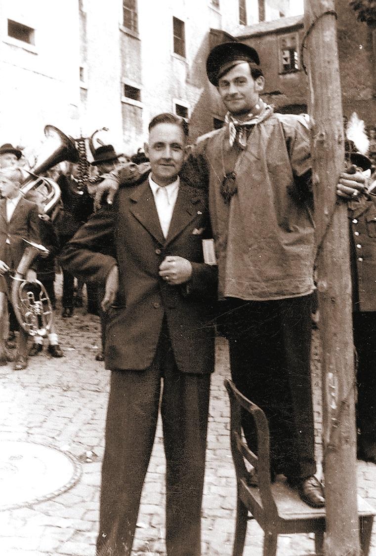 Kirmes 1949 - Wilhelm Lück, Jupp Webler